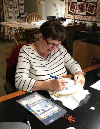 Punchneedle embroidery